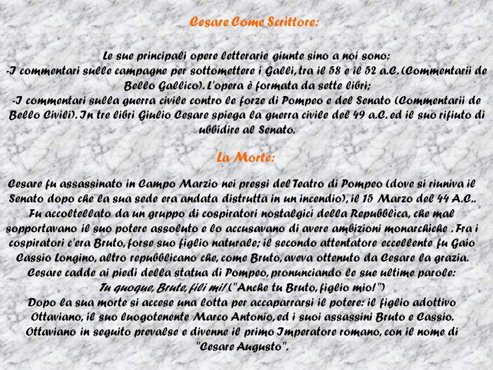 Cesare Come Scrittore: