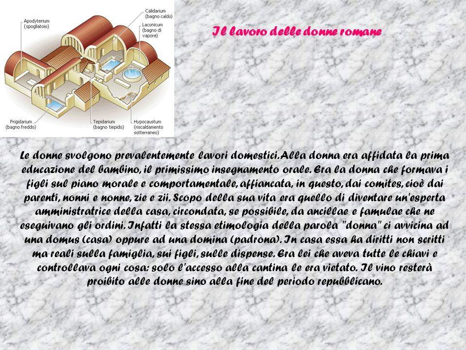 Il lavoro delle donne romane