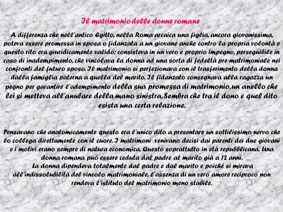 Il matrimonio delle donne romane