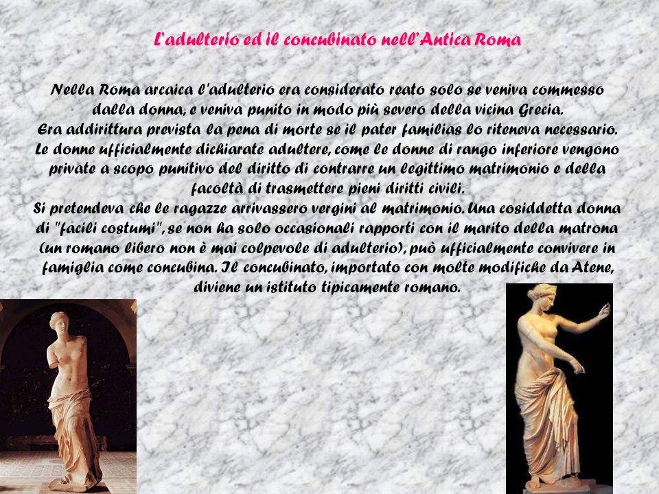 L'adulterio ed il concubinato nell'Antica Roma