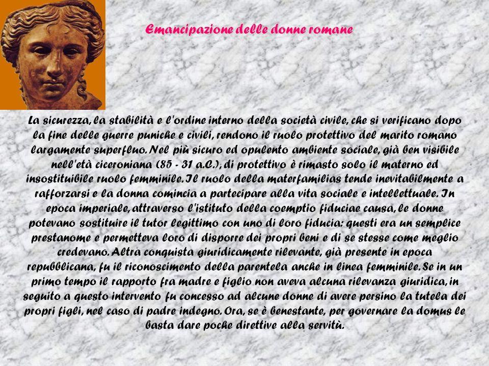 Emancipazione delle donne romane