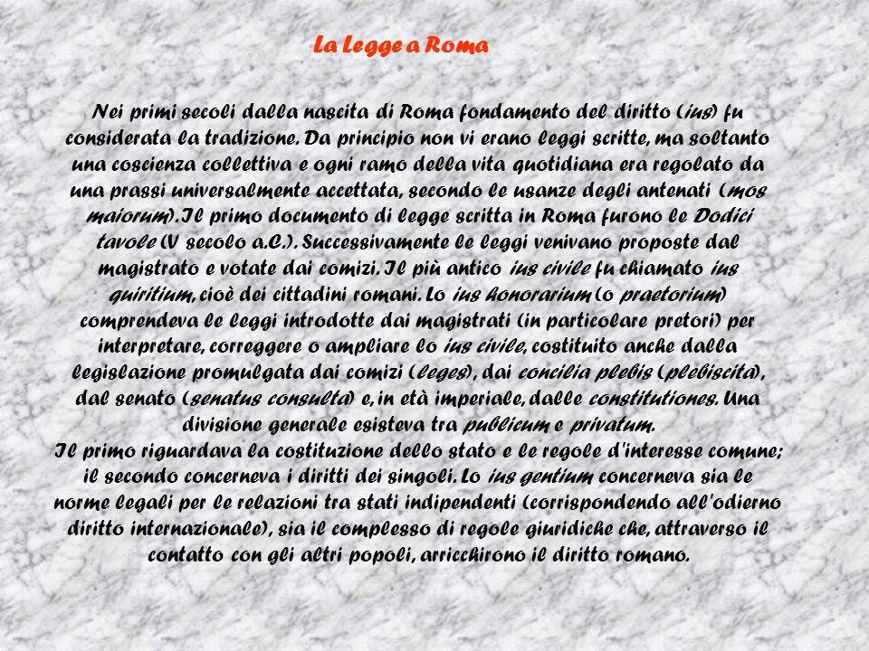 La Legge a Roma