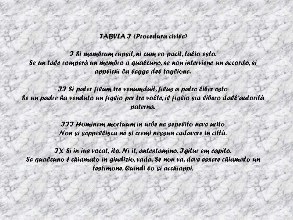 TABVLA I (Procedura civile)