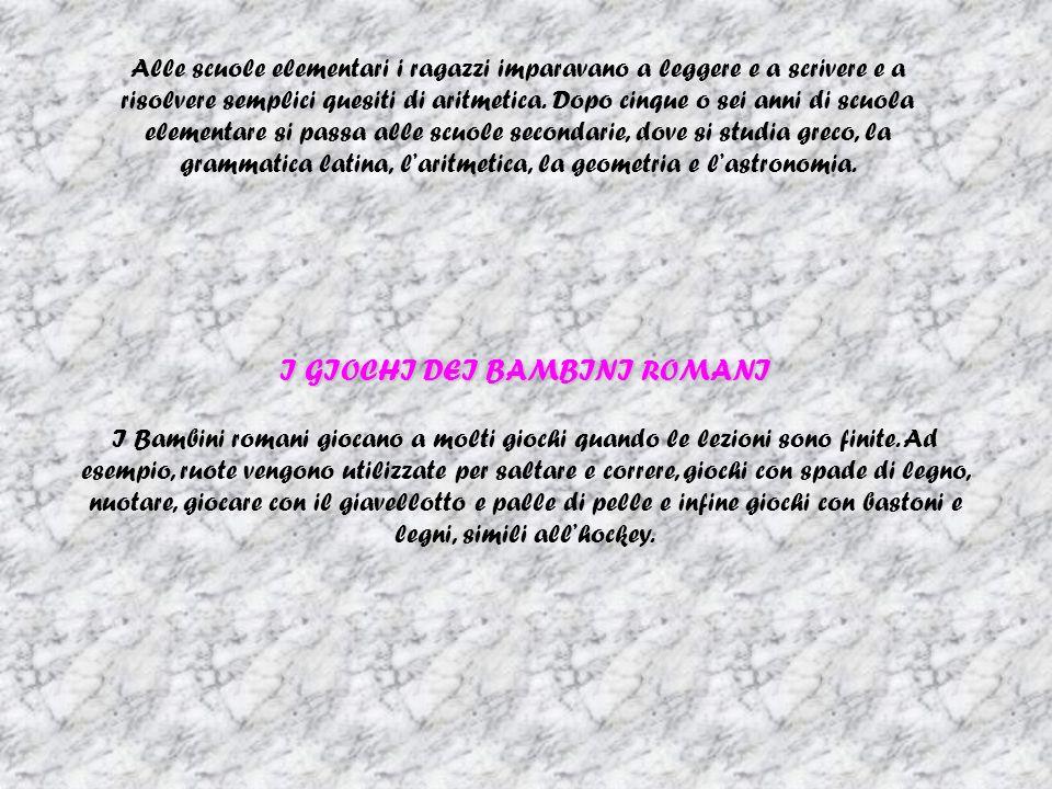 I GIOCHI DEI BAMBINI ROMANI