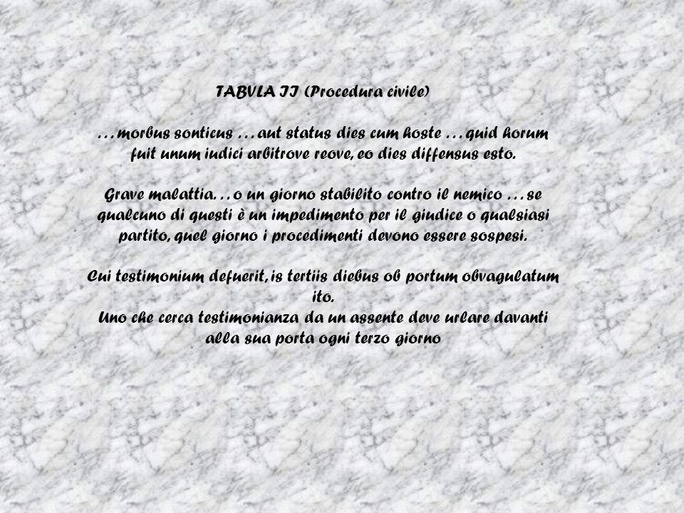 TABVLA II (Procedura civile)