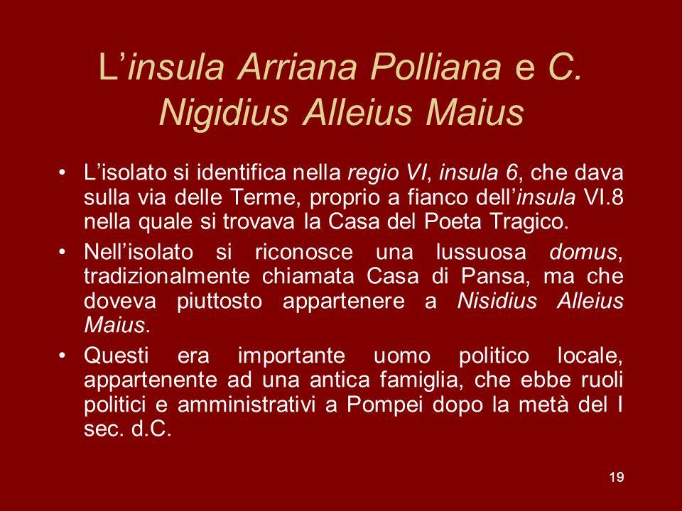 L'insula Arriana Polliana e C. Nigidius Alleius Maius
