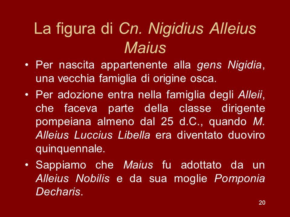 La figura di Cn. Nigidius Alleius Maius