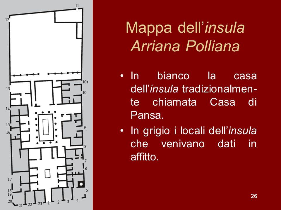 Mappa dell'insula Arriana Polliana