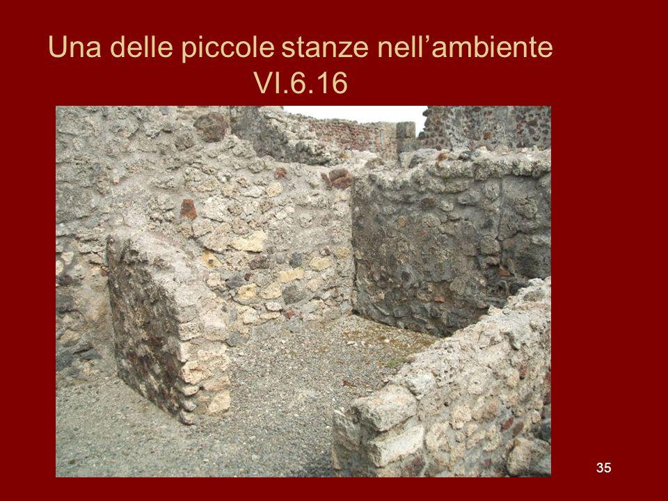 Una delle piccole stanze nell'ambiente VI.6.16