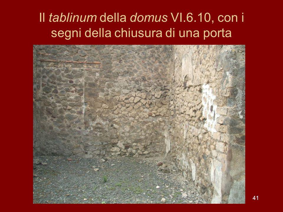 Il tablinum della domus VI. 6