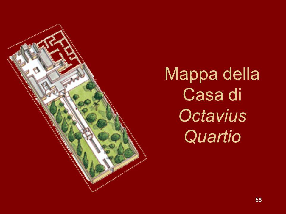 Mappa della Casa di Octavius Quartio