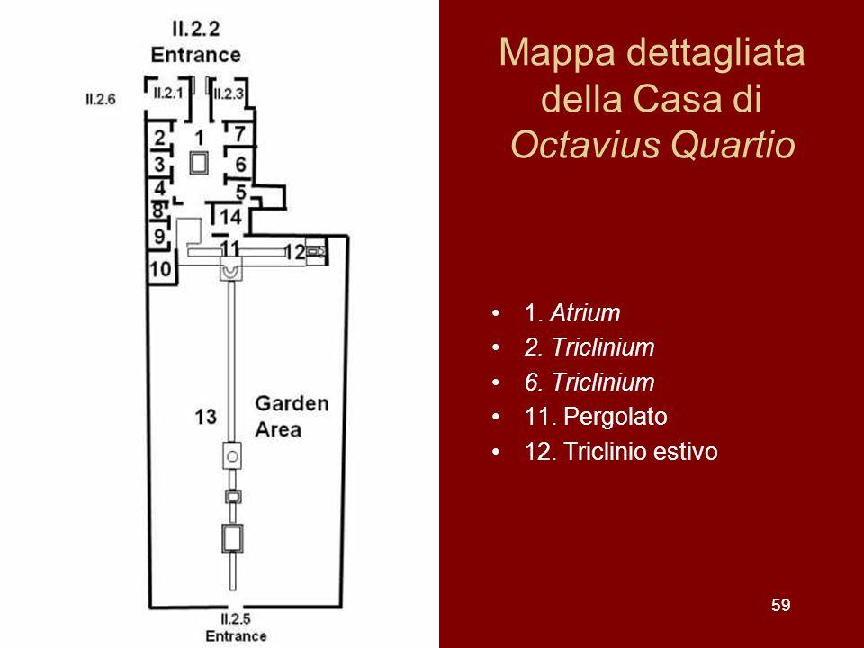 Mappa dettagliata della Casa di Octavius Quartio