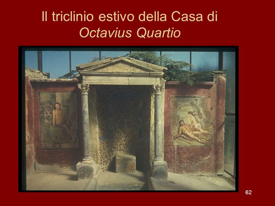 Il triclinio estivo della Casa di Octavius Quartio