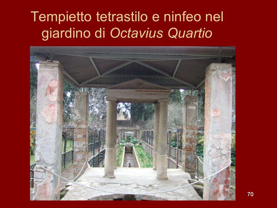 Tempietto tetrastilo e ninfeo nel giardino di Octavius Quartio