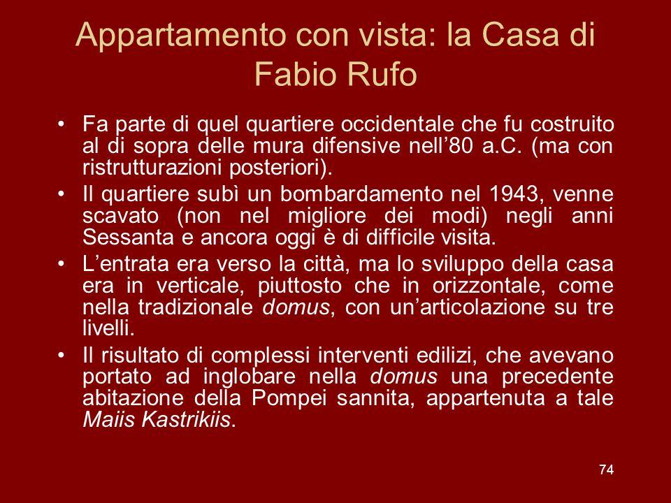 Appartamento con vista: la Casa di Fabio Rufo