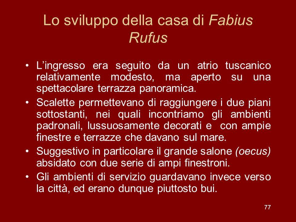 Lo sviluppo della casa di Fabius Rufus