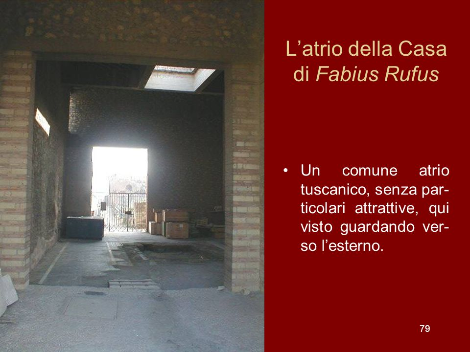 L'atrio della Casa di Fabius Rufus