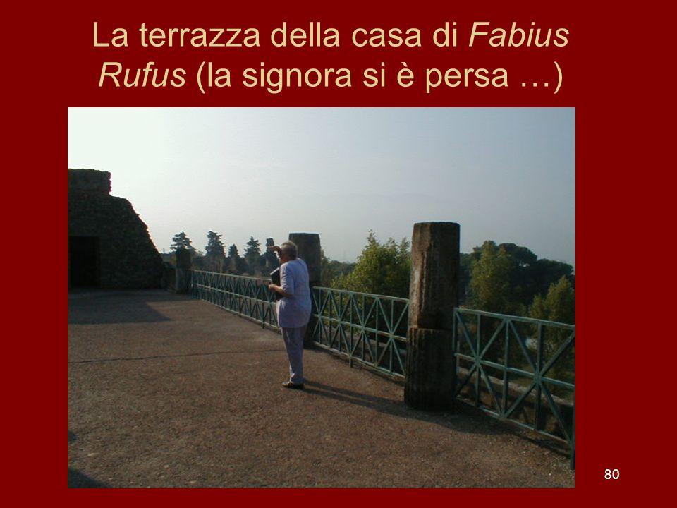 La terrazza della casa di Fabius Rufus (la signora si è persa …)