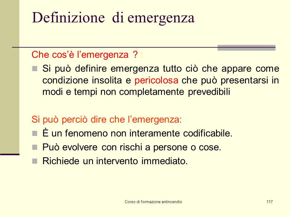 Definizione di emergenza
