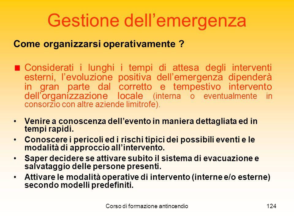 Gestione dell'emergenza