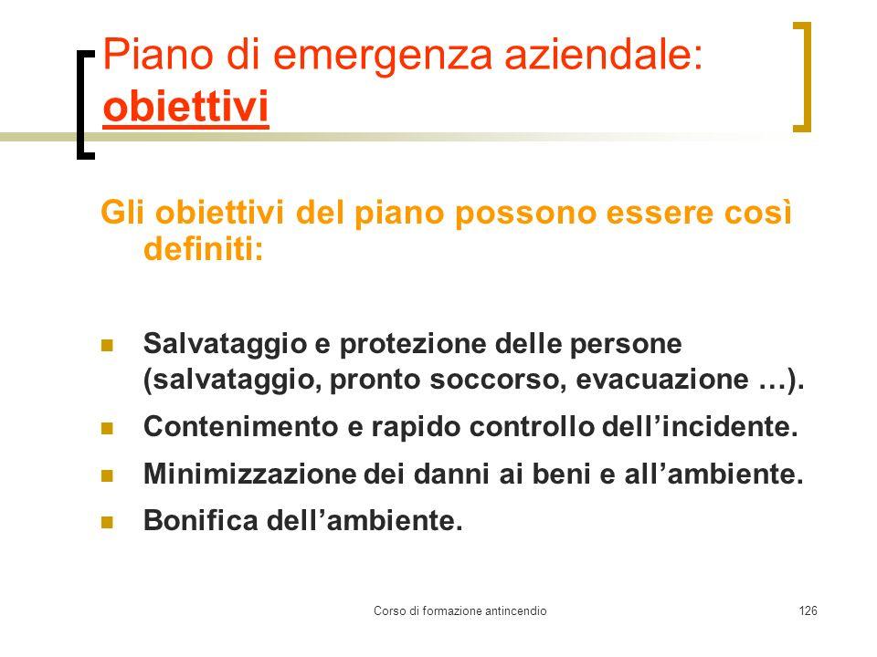 Piano di emergenza aziendale: obiettivi