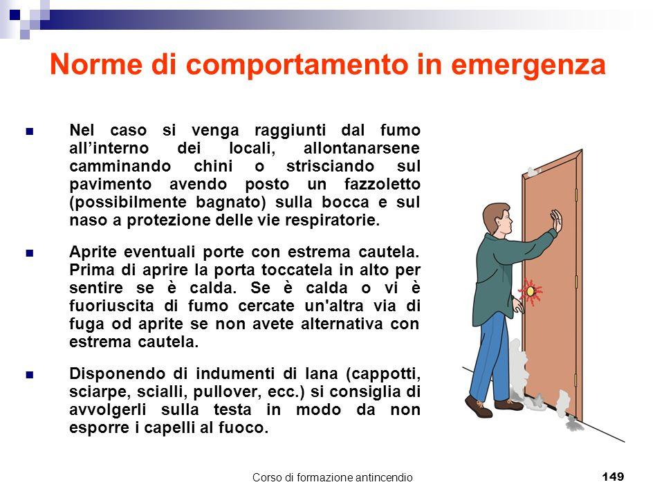 Norme di comportamento in emergenza