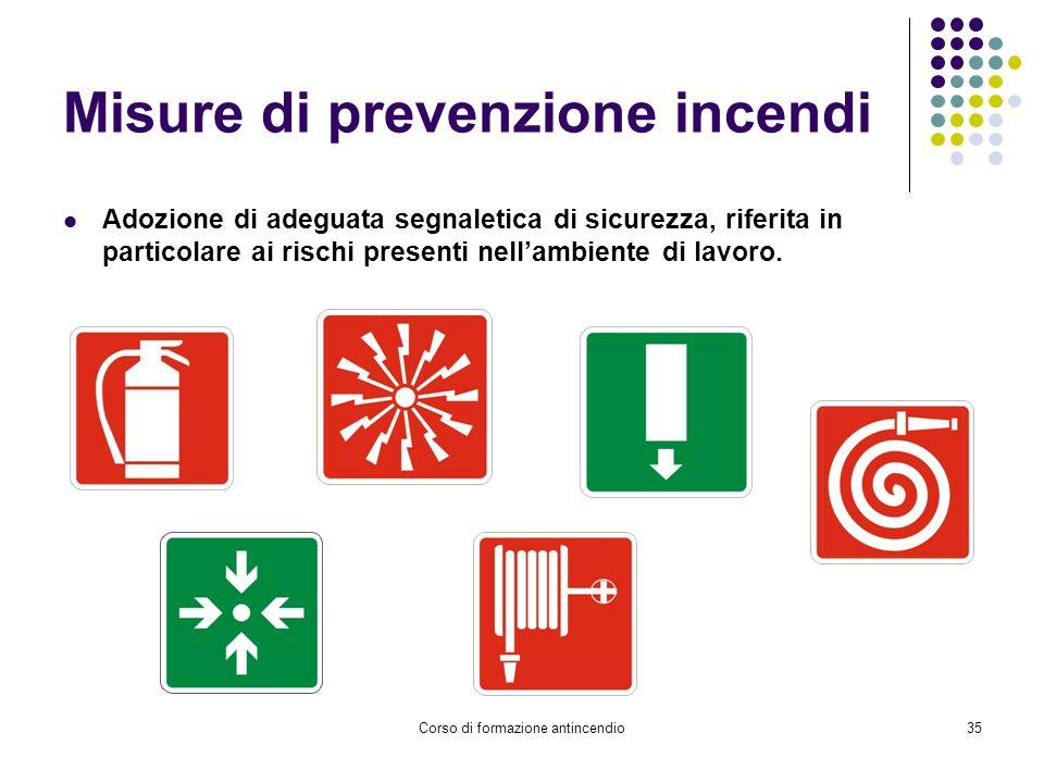 Misure di prevenzione incendi