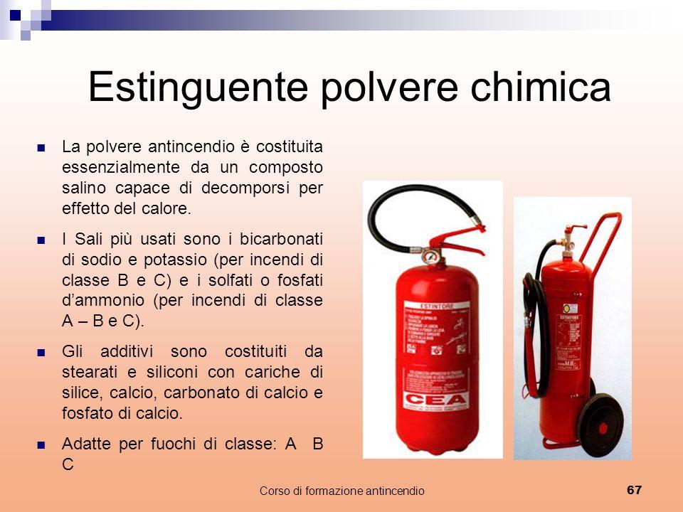 Estinguente polvere chimica