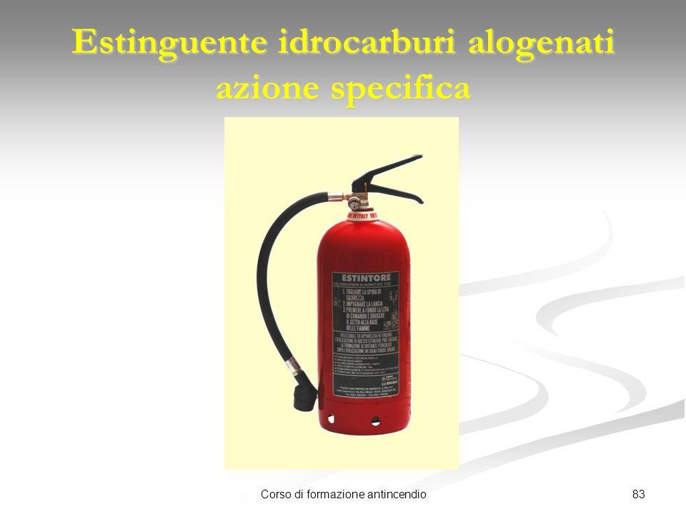 Estinguente idrocarburi alogenati azione specifica