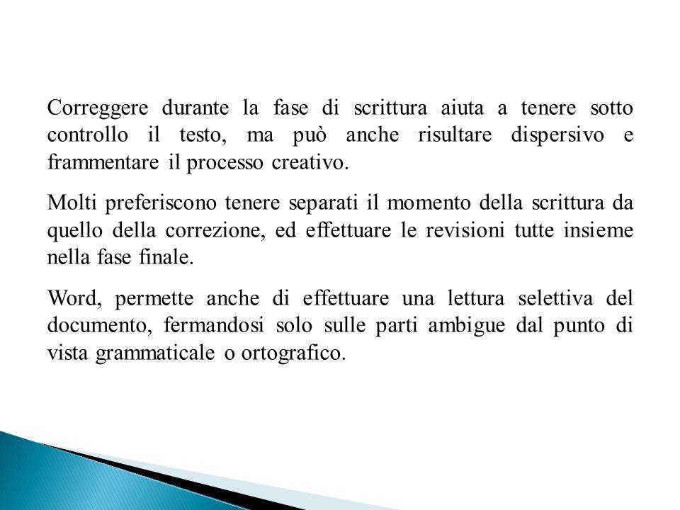 Correggere durante la fase di scrittura aiuta a tenere sotto controllo il testo, ma può anche risultare dispersivo e frammentare il processo creativo.