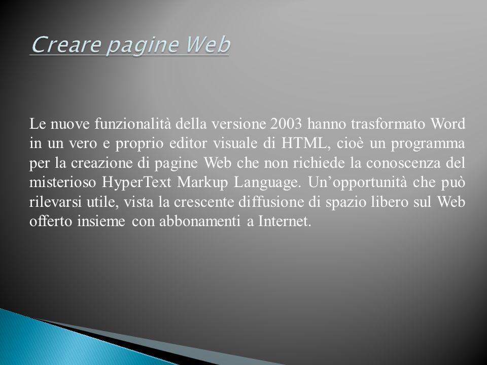 Creare pagine Web