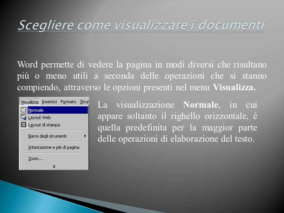 Scegliere come visualizzare i documenti