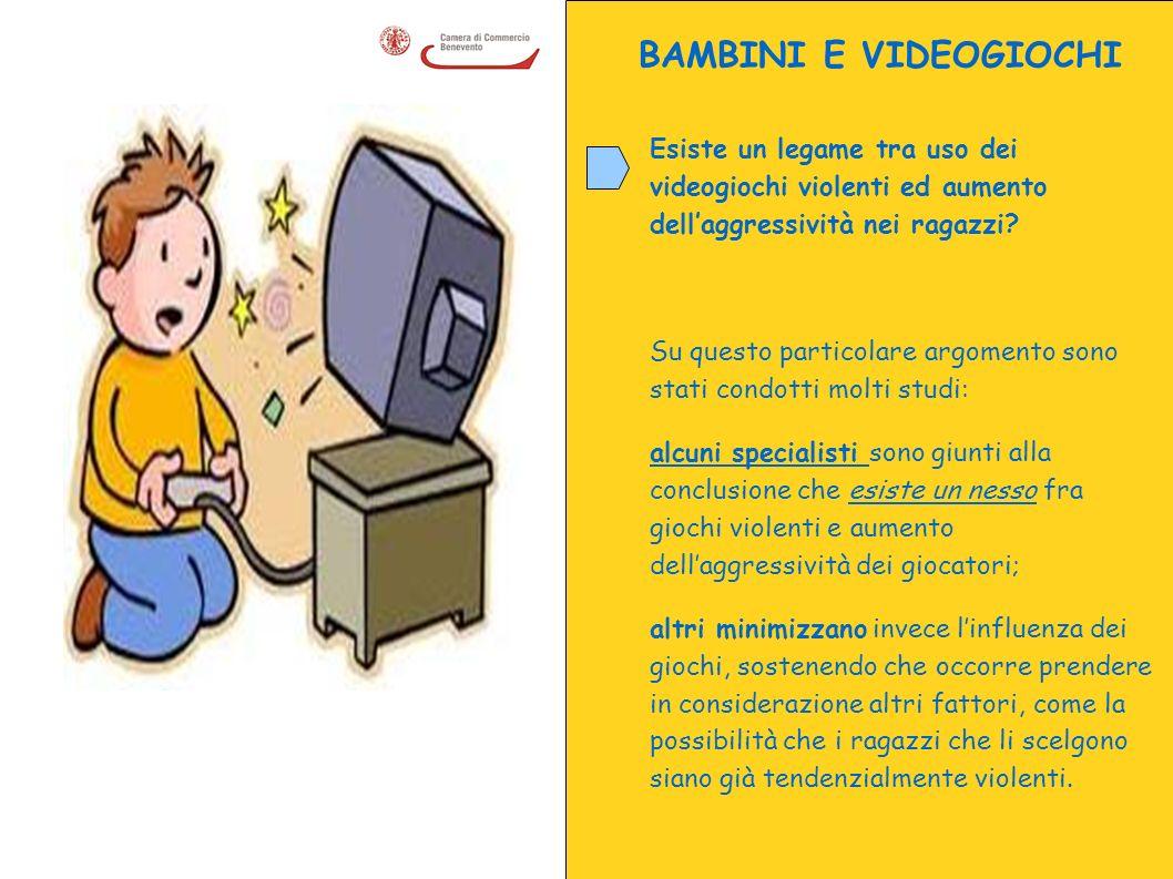 BAMBINI E VIDEOGIOCHI Esiste un legame tra uso dei videogiochi violenti ed aumento dell'aggressività nei ragazzi