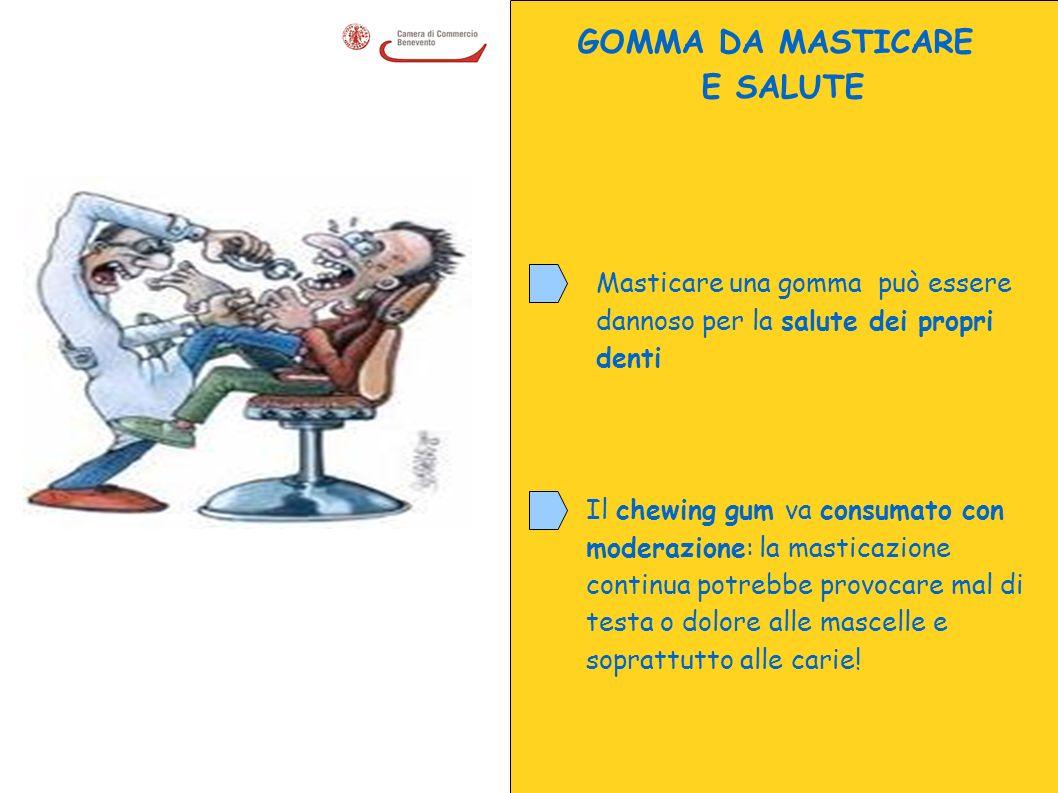 GOMMA DA MASTICARE E SALUTE