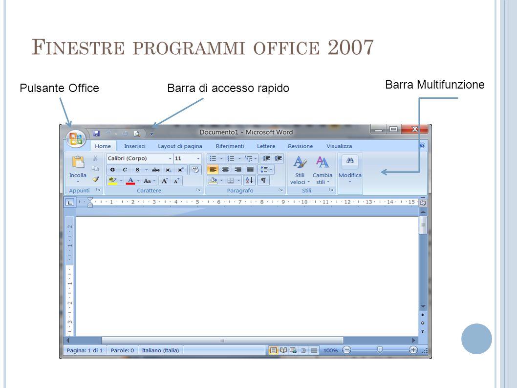 Finestre programmi office 2007
