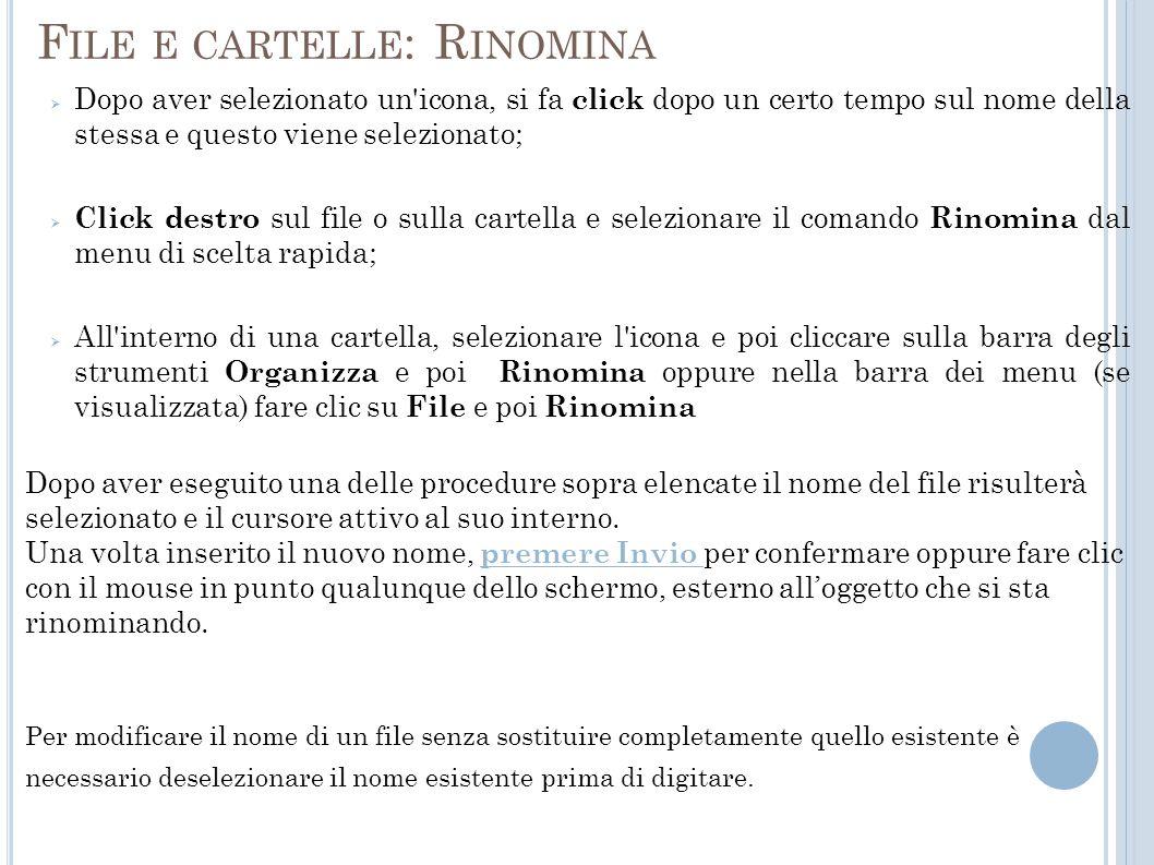 File e cartelle: Rinomina