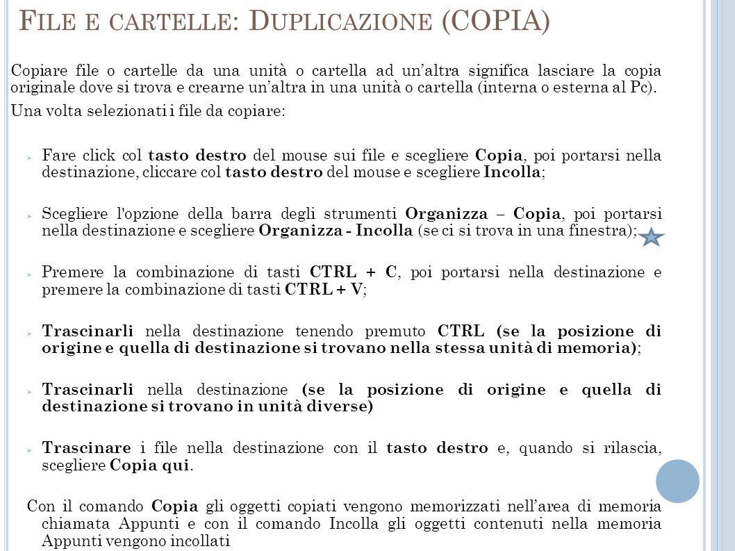 File e cartelle: Duplicazione (COPIA)