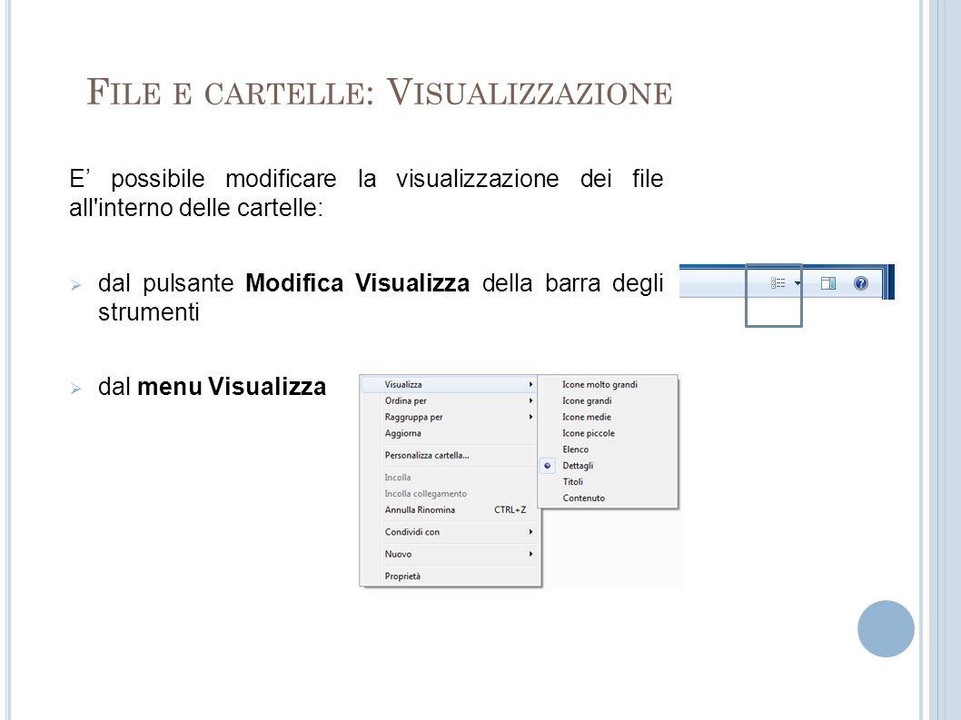 File e cartelle: Visualizzazione