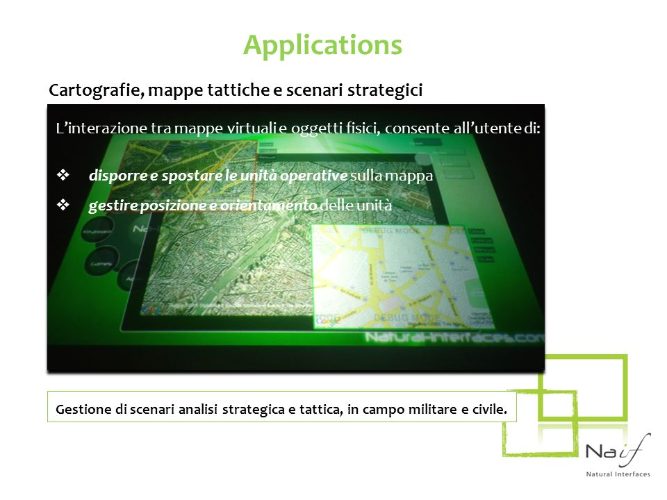 Applications Cartografie, mappe tattiche e scenari strategici
