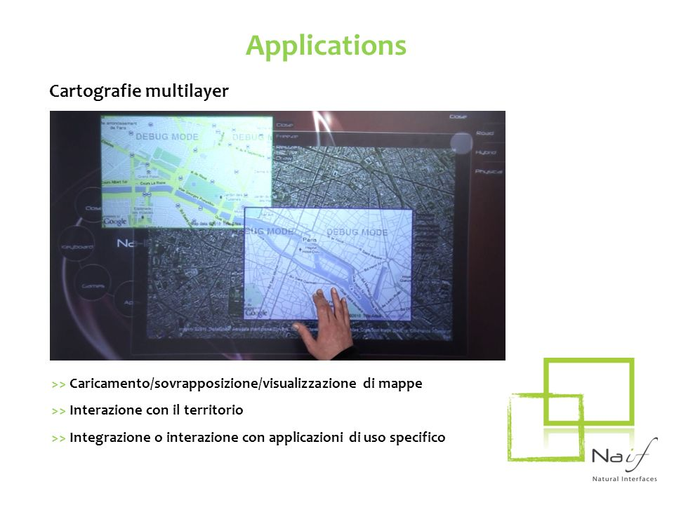 Applications Cartografie multilayer