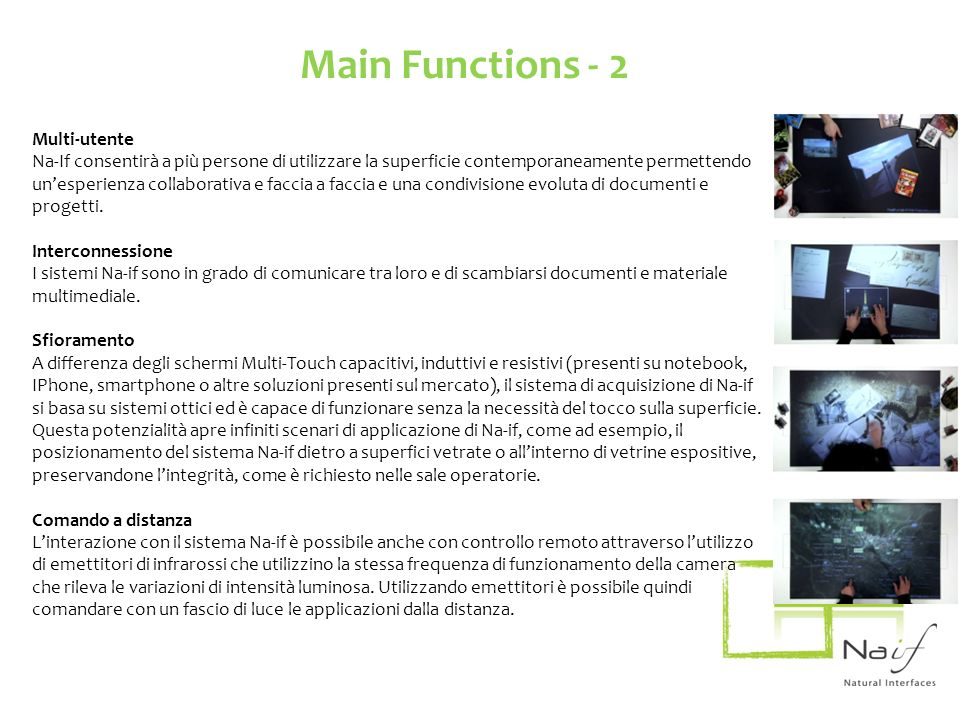 Main Functions - 2 Multi-utente