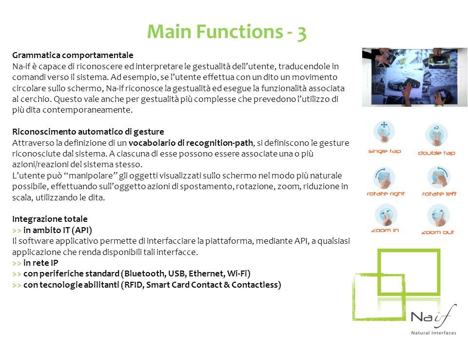 Main Functions - 3 Grammatica comportamentale