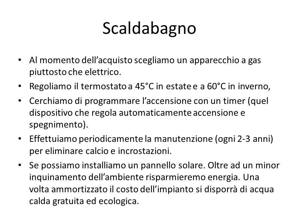 ScaldabagnoAl momento dell'acquisto scegliamo un apparecchio a gas piuttosto che elettrico.