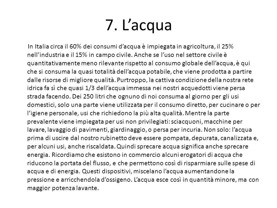 7. L'acqua