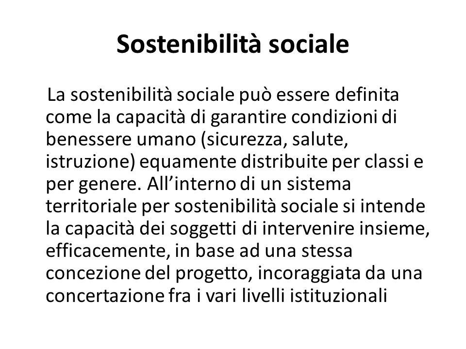 Sostenibilità sociale
