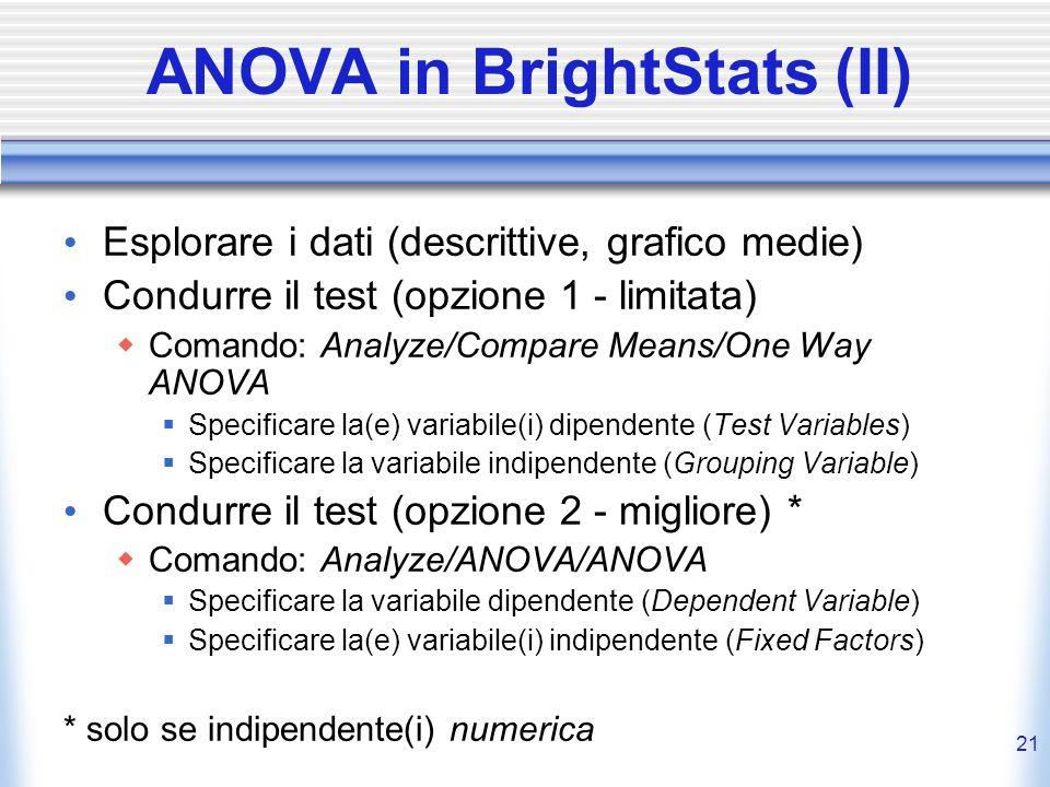 ANOVA in BrightStats (II)