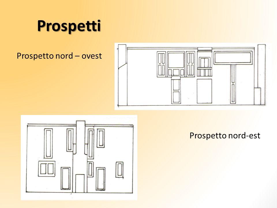 Prospetti Prospetto nord – ovest Prospetto nord-est