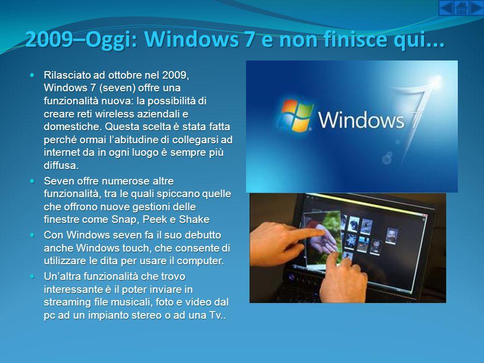 2009–Oggi: Windows 7 e non finisce qui...