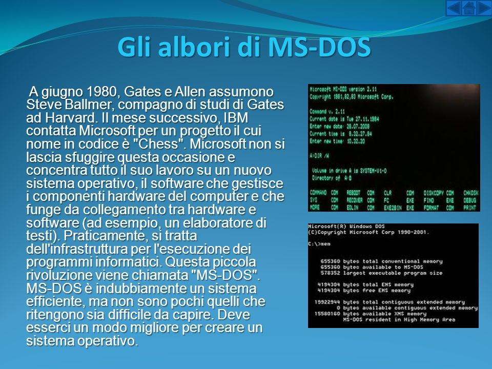 Gli albori di MS-DOS