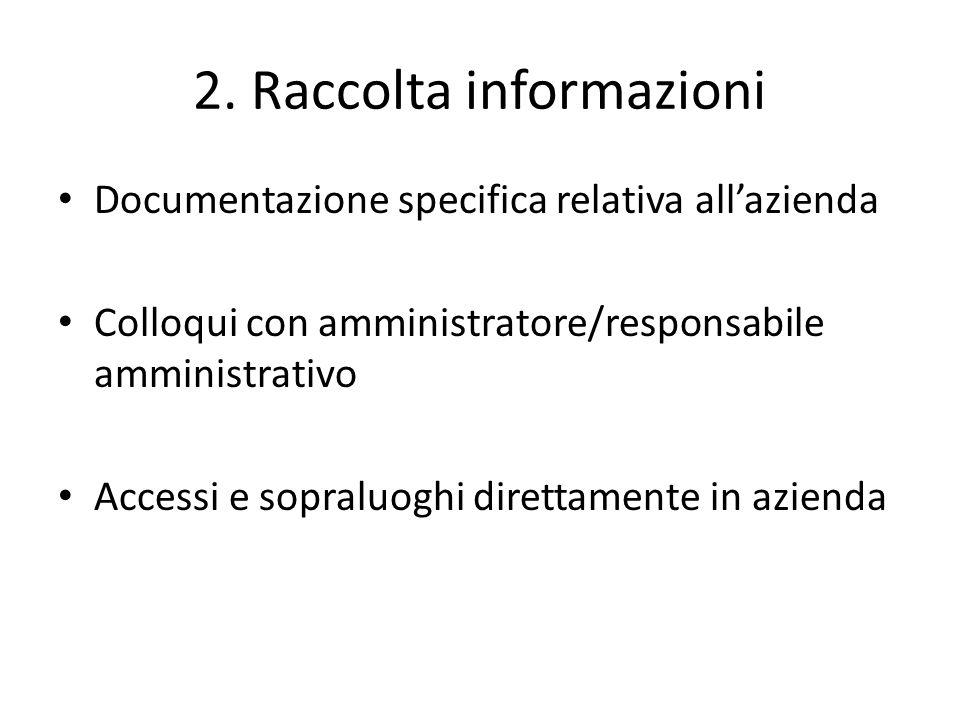 2. Raccolta informazioni